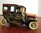 Vintage 1950 39 s Marx Linemar Tin Jalopy Wind-Up Toy Car