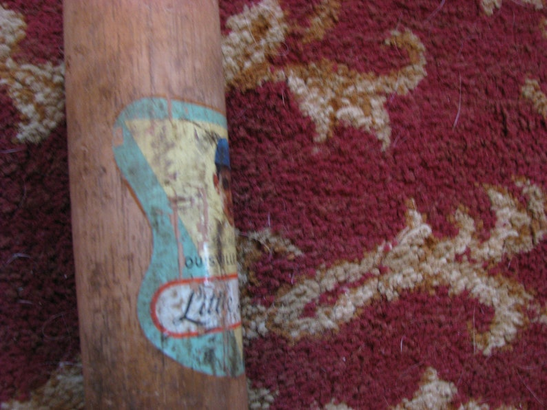 Vintage Ted Williams Little League Bat With Decal