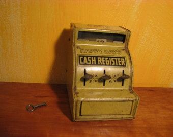 Vintage/Antique J. Chein & Co HAPPY DAYS Tin Toy Cash Register Bank
