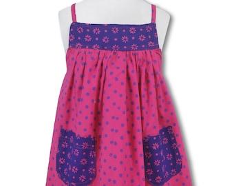 Toddler Dress-Size 2T-Sleeveless-50s Retro-Black Purple /& Gold Mums Batik-100/% Cotton-Ready to Ship