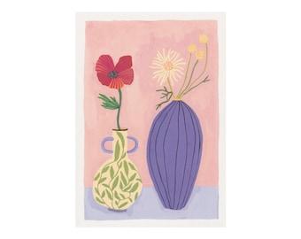 A4 Poppy & Daisy Print