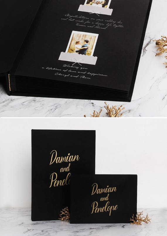 Wedding Guest Book With Black Pages Yeter Wpart Co