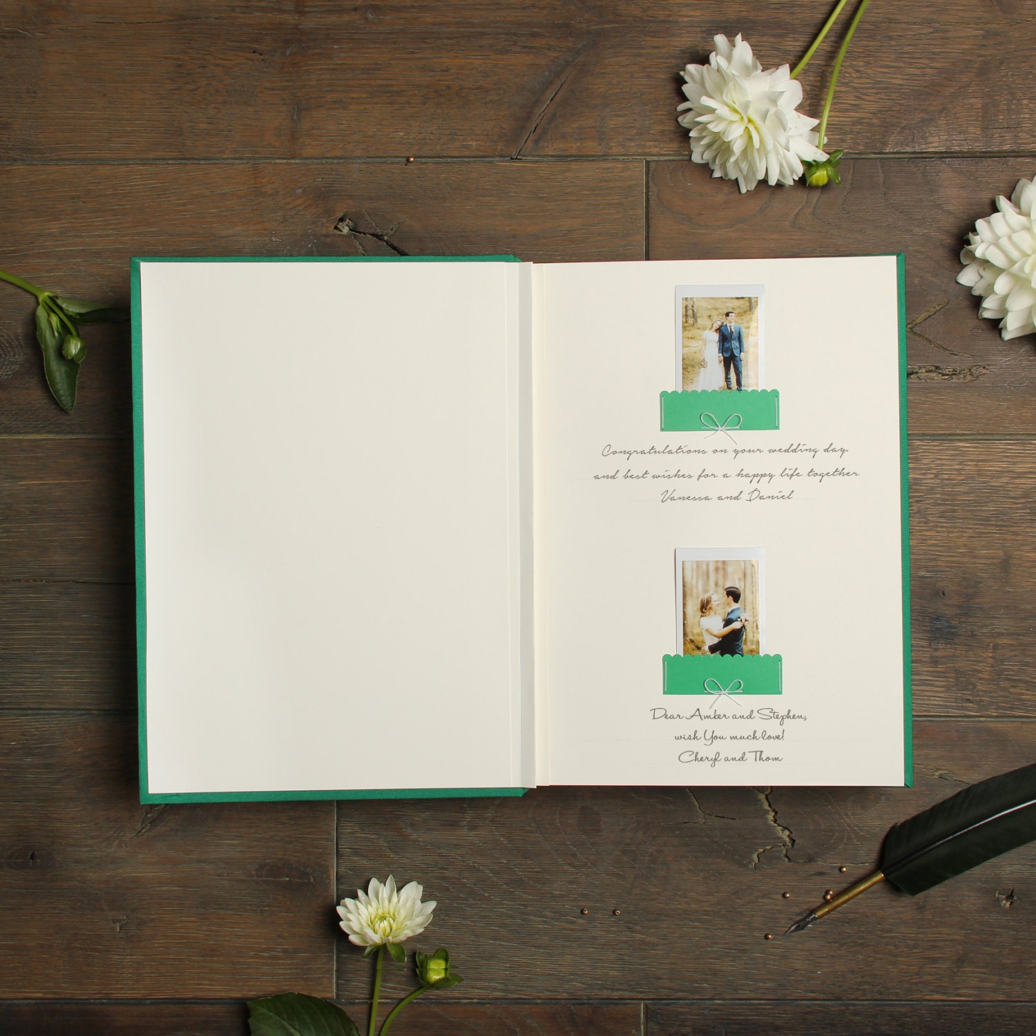 Pocket Guest Book: Instant Pocket Guestbook Shamrock Green With White