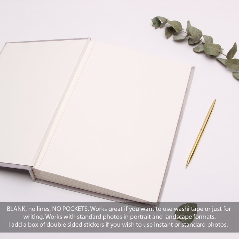 by Liumy Wedding Guest Book Instant Photo Album Cream with Ribbon Instax mini guestbook