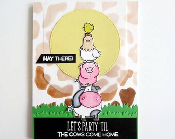 Funny Cow Card Etsy