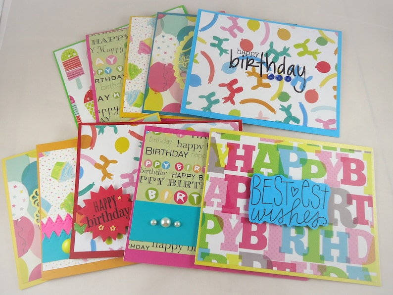 10 Handmade Birthday Cards And Envelopes Card
