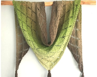 Like Diamonds in the Sky Shawl crochet pattern, pdf made with Whirl by Scheepjes