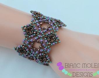 Sophia an English bracelet tutorial | round beads firepolished beads 11/0 15/0 8/0 seed beads |