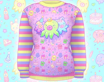 "Pink ""OctoParty"" Sweater"