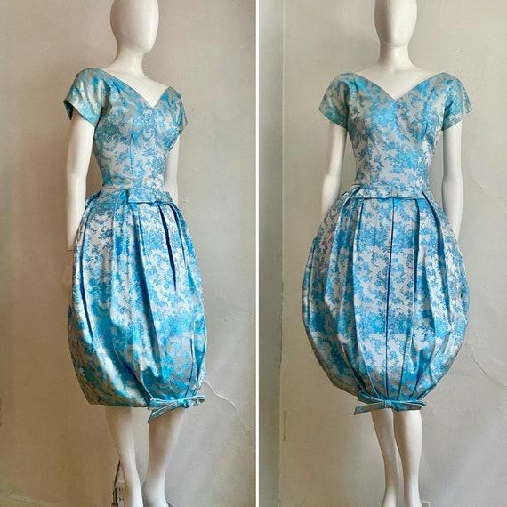 "Vintage 1957 SUZY PERETTE Glam ""Bubble"" Brocade Co"