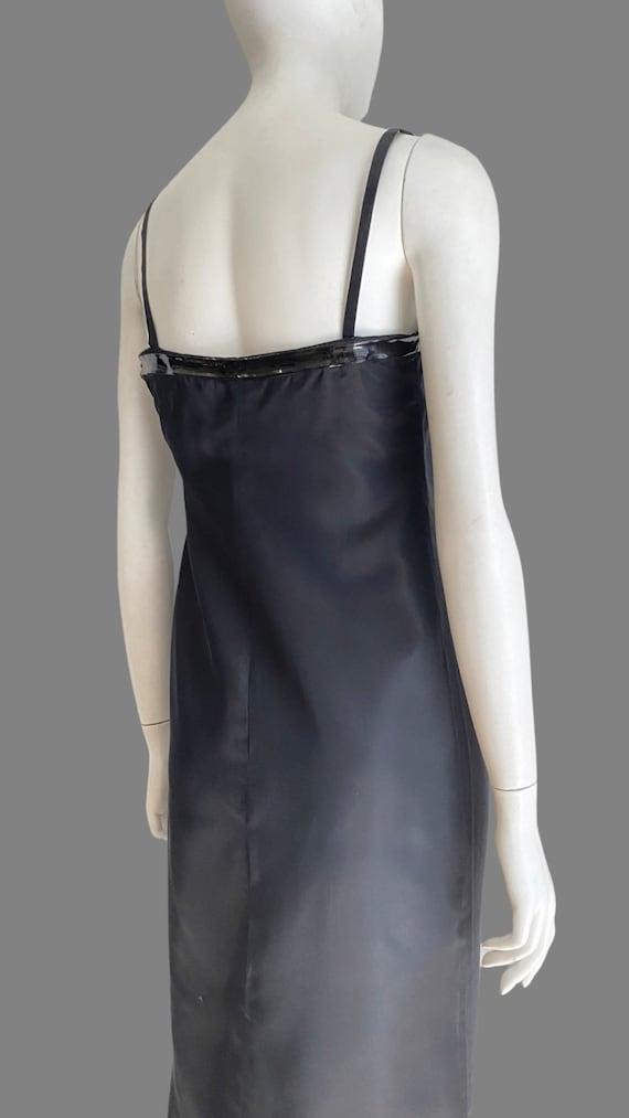 Vintage 1990s PRADA Silk & PVC Designer Mermaid D… - image 5