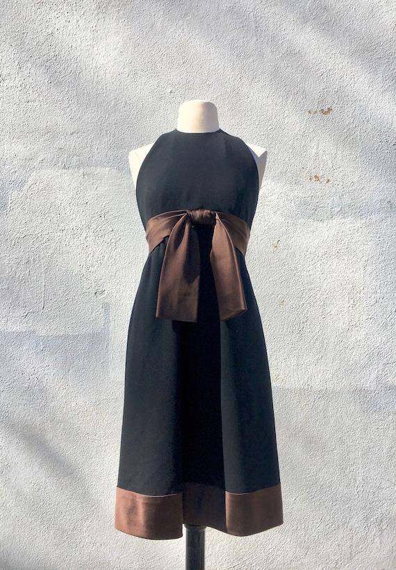 1960s DONALD BROOKS Halter LBD Dress S