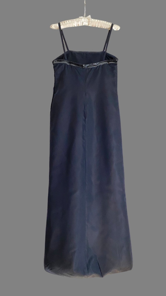 Vintage 1990s PRADA Silk & PVC Designer Mermaid D… - image 9