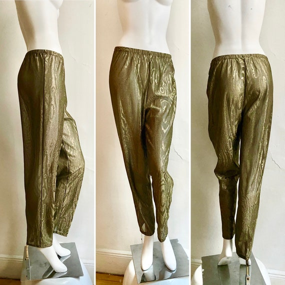 1970s CLOVIS RUFFIN Gold Fever Studio 54 Pants M