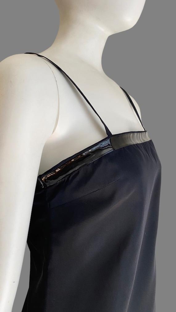 Vintage 1990s PRADA Silk & PVC Designer Mermaid D… - image 3
