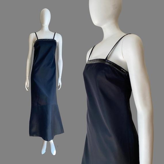 Vintage 1990s PRADA Silk & PVC Designer Mermaid D… - image 1