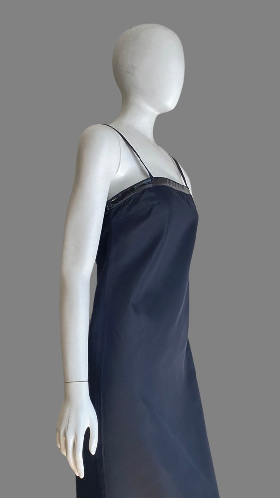 Vintage 1990s PRADA Silk & PVC Designer Mermaid D… - image 6