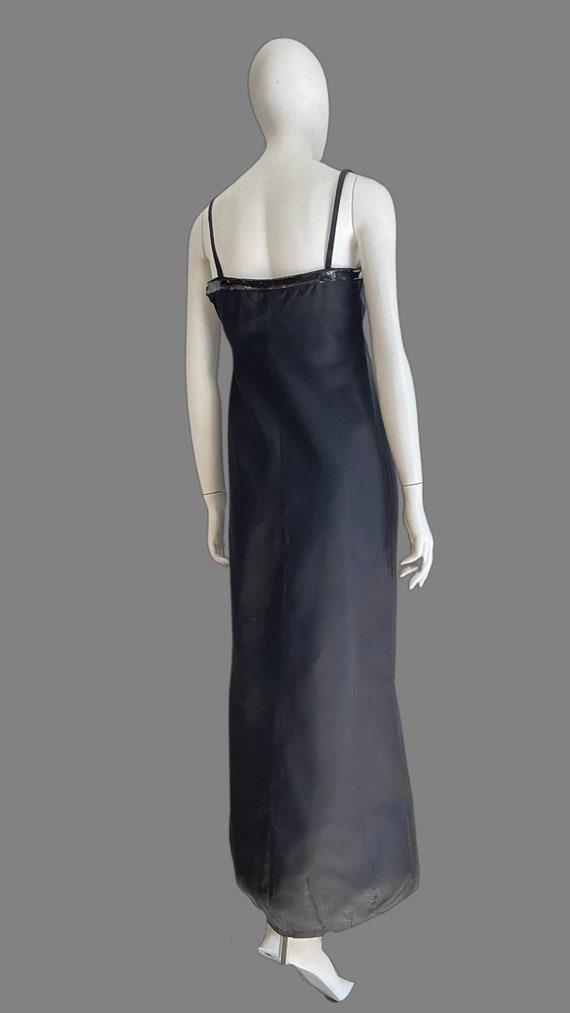 Vintage 1990s PRADA Silk & PVC Designer Mermaid D… - image 4