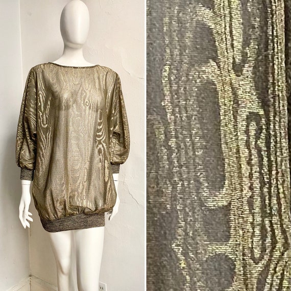 1970s CLOVIS RUFFIN Gold Fever Studio 54 Minidress