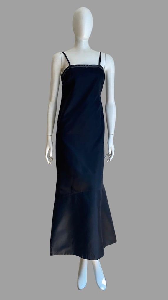 Vintage 1990s PRADA Silk & PVC Designer Mermaid D… - image 2