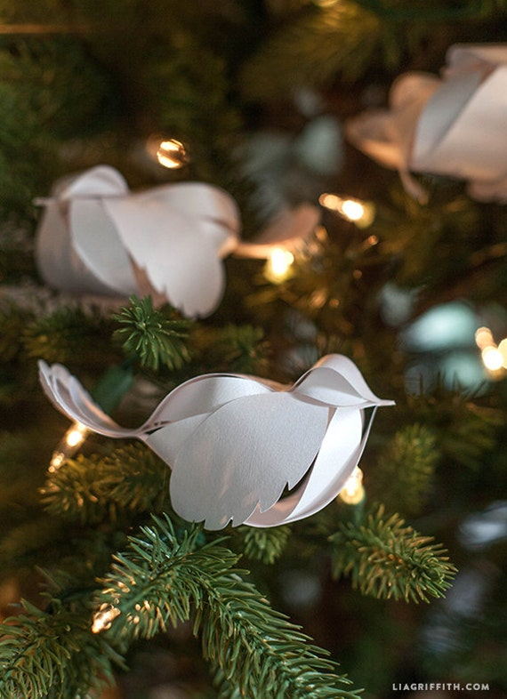 template for paper bird ornament etsy