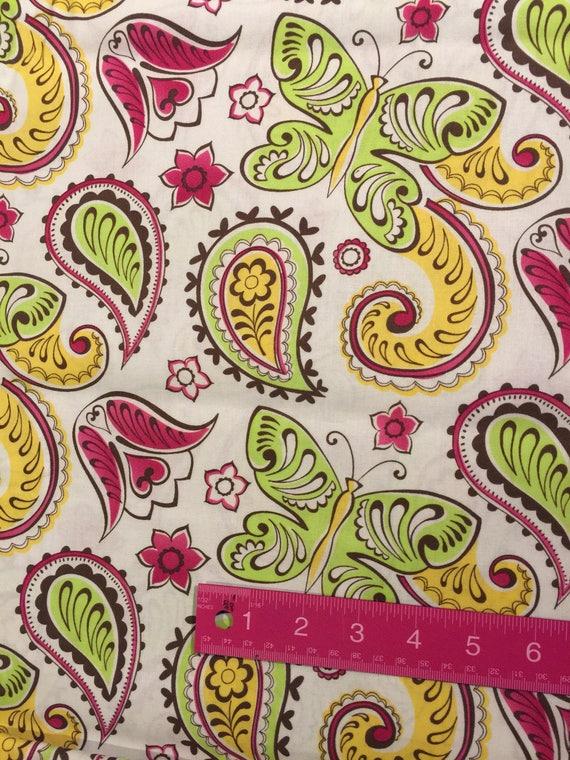 Paisley, papillon coton patchwork coton papillon 2 yards, frère et sœur de 2011 aa271f