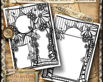 Printable Coloring Page, Journal, Diary, Recipe page
