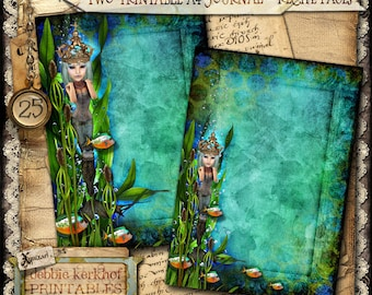 Digitally collaged Journal/Diary printable A4 pages - No.25