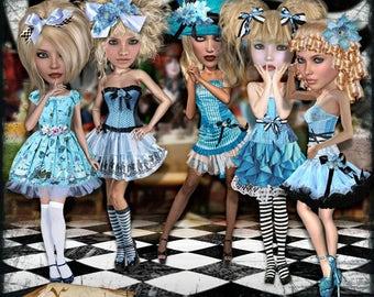 Digital Scrapbooking Kit - Oh Alice