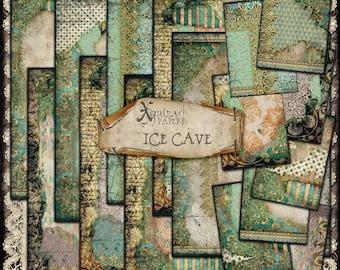 Digital Papers, Ice Cave, ATC, Journal A4, printable, Scrapbooking, Digiscrap,