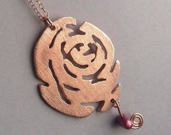 Rose Brass Necklace