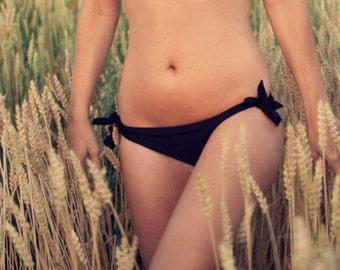 MUKU handmade side tie low rise bikini bottom