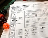 DELUXE BUNDLE - D&D 5e Character Sheets - Stats Appearance History Worn Gear Backpack Inventory Spells Container Info (Print Play Fillable)