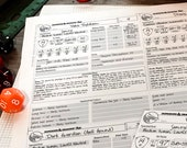 Monster / NPC / Companion Cards (Print, Play, Fillable) • Planner • Dungeons and Dragons • Pathfinder • D&D 5e