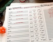 Initiative Tracker (Print, Play, Fillable) • Combat Encounter Planner • Dungeons and Dragons • Pathfinder • 5e D&D