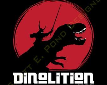 "Scott Sigler's DINOLITION/GFL Poster (12x12""): Art Poster; Original Art Poster; Fine Art Poster [Officially Licensed Sigler Merch]"