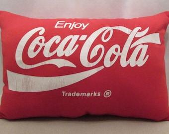 SALE! Coca-Cola pillow/ handmade/ shirt pillow/ travel pillow