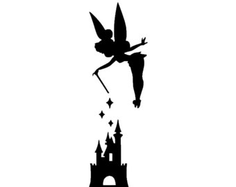 Tinker Bell with Castle Disney Magic Band Decal | Disney Decal | Disney Tinker Bell | Disney Magic Band Tinkerbell Decal | Disney  Decals