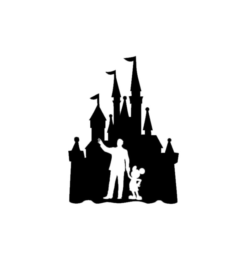 26bdfca42b2 Disney Castle With Walt and Mickey Decal Mickey Mouse Decal