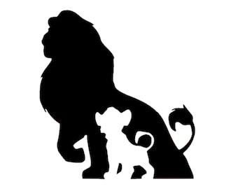 Simba Decal | Disney Decal | Disney Simba from Lion King Sticker | Disney Grown and Young Simba Vinyl Decal | Disney Vinyl | Simba Sticker