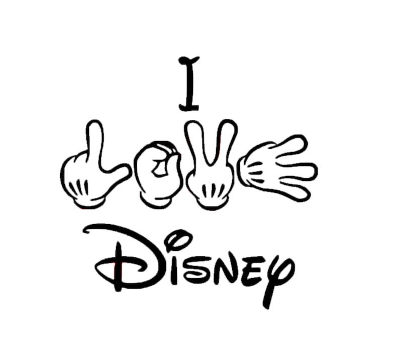 c64281615f8 I Love Disney Decal Disney Decal Disney Love Sticker