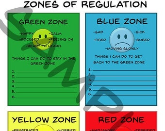 image about Zones of Regulation Printable called Psychological legislation Etsy