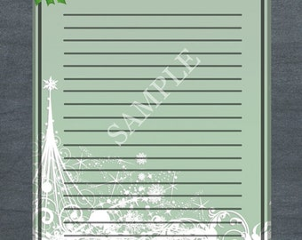 sale holiday stationary christmas stationary printable etsy