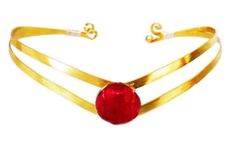 Sailor Moon Cosplay Elven circlet Gold Tiara Halloween Crown- Sailormoon Cosplay Sailor Moon Tiara Sailormoon Tiara Sailor Moon