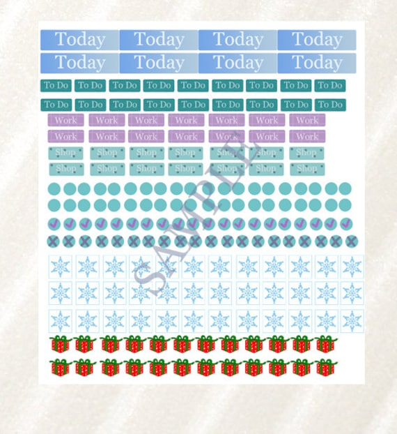 sale winter theme stickers planner stickers stationary etsy