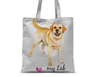 I Love My Yellow Labrador Tote Bag