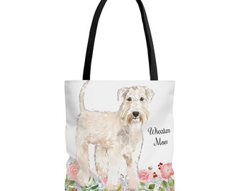 Canvas Shopping Tote Bag Paw Irish Soft Coated Wheaten Terrier 2 Beach for Women