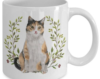 Calico Cat Lovers Gift Calico Cat Face Mug Large 15 oz Coffee or Tea Mug Cat Gifts Fiddler/'s Elbow 788353004752