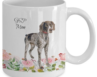 GSP COFFE MUG CRAZY GSP LADY MUG GSP ACCESSTORIES GERMAN SHORTHAIRED POINTER