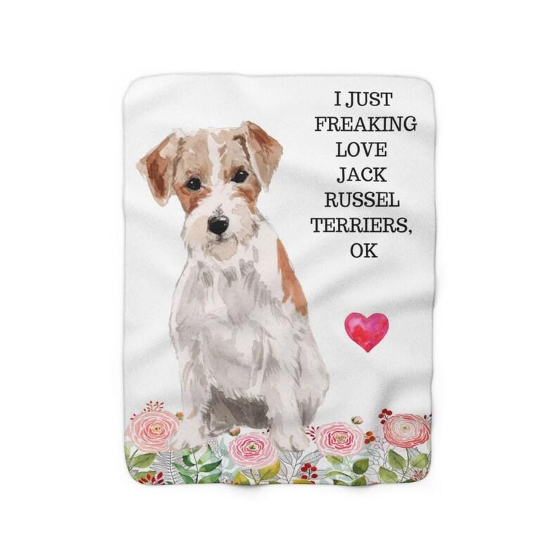 Jack Russel Terrier Lap Blanket Sherpa Fleece